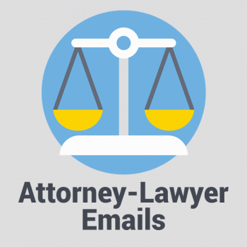 attrorney and lawyer email list