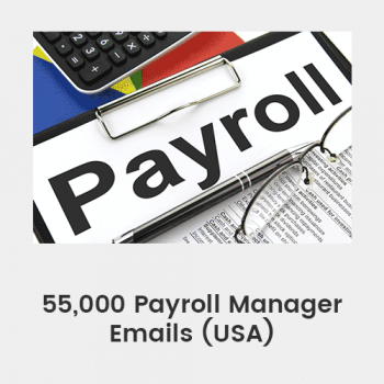 55,000 Payroll Manager Emails (USA)