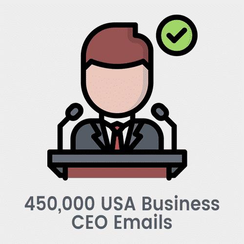 450,000 USA Business CEO Emails