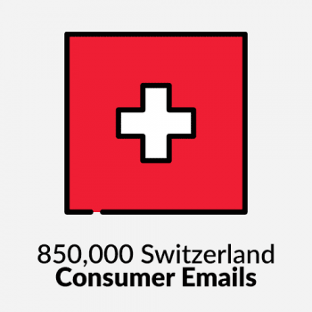 850,000 Switzerland Consumer Emails